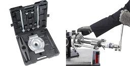写真:アーム式自動調心機能付油圧引抜き治具+セパレータキット